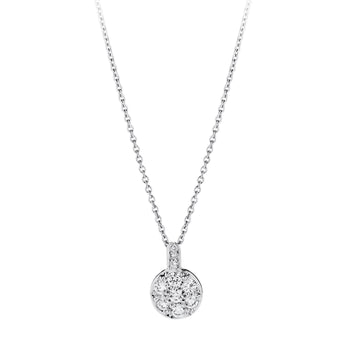 18CT DIAMOND SNOWBALL PENDANT