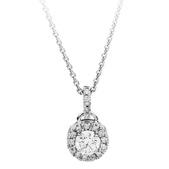 18CT DIAMOND ORBIT PENDANT