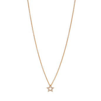 18CT ROSE GOLD DIAMOND MINI STAR PENDANT