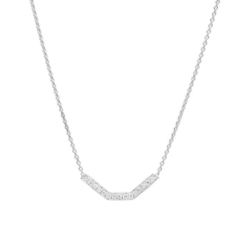 18CT WHITE GOLD DIAMOND MATRIX BAR PENDANT