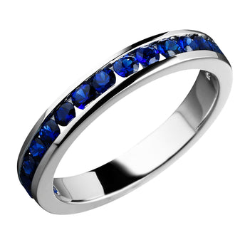 18CT SAPPHIRE CHANNEL BAND