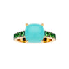 9CT AMAZONITE & TSAVORITE ROTONDE RING