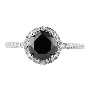 18CT BLACK DIAMOND PICCADILLY RING