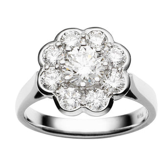 18CT DIAMOND HAMPSTEAD RING
