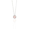 18CT PINK MORGANITE & DIAMOND ORBIT PENDANT