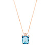 18CT ROSE GOLD LONDON BLUE TOPAZ & DIAMOND SARDINIA PENDANT