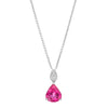 BESPOKE 18CT PINK TOURMALINE & DIAMOND PENDANT