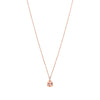 18CT ROSE GOLD PINK MORGANITE & DIAMOND BONNARD PENDANT