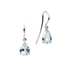 18CT WHITE GOLD AQUAMARINE EARRINGS
