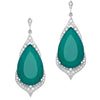 18CT WHITE GOLD GREEN ONYX & DIAMOND NATASHA EARRINGS