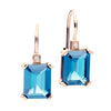 18CT LONDON BLUE TOPAZ & DIAMOND SARDINIA EARRINGS
