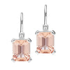 18CT PINK MORGANITE & DIAMOND SARDINIA EARRINGS