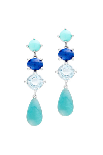 9CT AMAZONITE ELBA EARRINGS