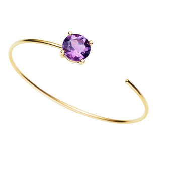 9CT AMETHYST CARLY BANGLE
