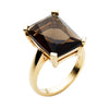 9CT SMOKY QUARTZ SUNSET RING