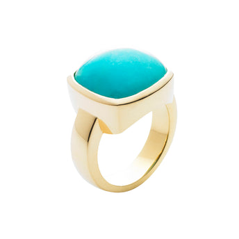 9CT PERUVIAN AMAZONITE RING