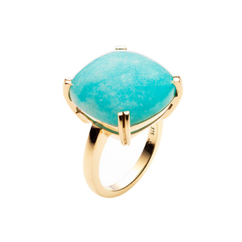 9CT PERUVIAN AMAZONITE DOLCI RING