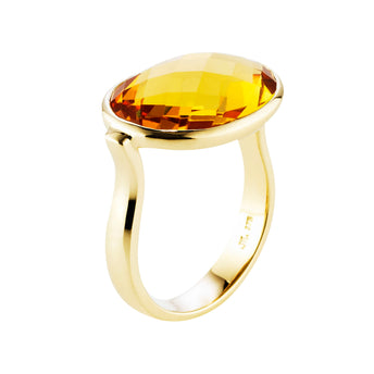 9CT CITRINE FLAMENCO RING
