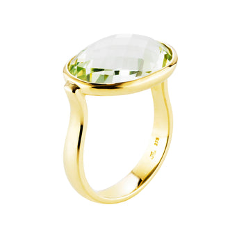 9CT GREEN AMETHYST FLAMENCO RING