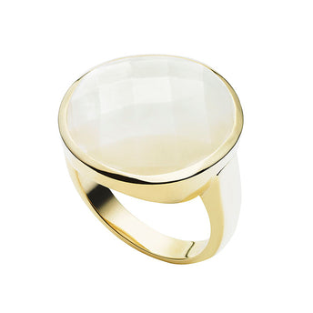 9CT MOTHER OF PEARL MOONSTRUCK RING