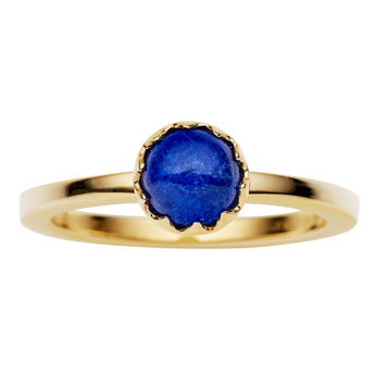9CT GOLD LAPIS AURORA RING