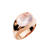 9CT ROSE GOLD VIRAGO ROSE QUARTZ RING