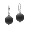 STG SILVER MATT ONYX EARRINGS