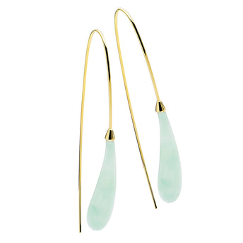 9CT JADE CARDINALE EARRINGS