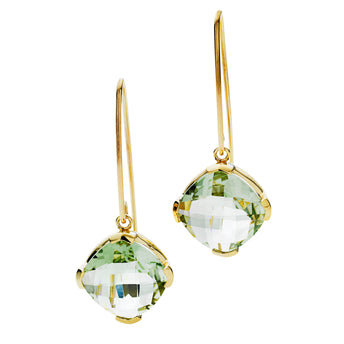 9CT GREEN AMETHYST TANGO EARRINGS