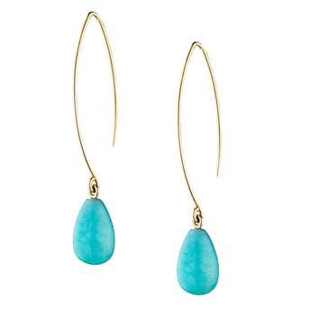 9CT AMAZONITE GENOVA EARRINGS