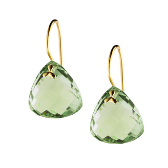 9CT GREEN AMETHYST PALOS EARRINGS