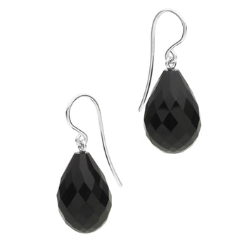 STG SILVER AGATE EARRINGS