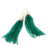 9CT GREEN AGATE GATSBY (5CM) TASSEL EARRINGS