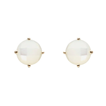 9CT MOTHER OF PEARL STUD EARRINGS