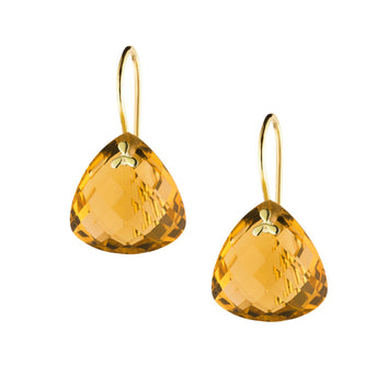 9CT HONEY QUARTZ PALOS EARRINGS