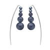 STG SILVER ONYX TOVA EARRINGS