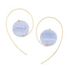 9CT BLUE LACE AGATE ANNA EARRINGS