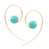 9CT AMAZONITE ANNA EARRINGS