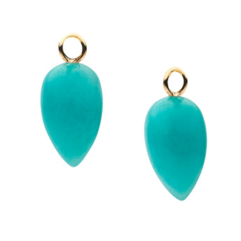 9CT ORIANA AMAZONITE INTERCHANGEABLE DROPS