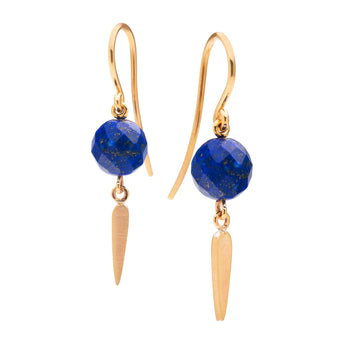 9CT NIELSEN LAPIS EARRINGS