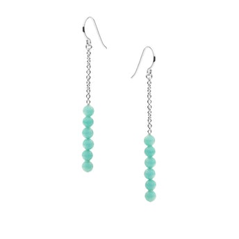 STERLING SILVER AMAZONITE BUNBURY EARRINGS