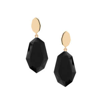 9CT ONYX PILLIGA EARRINGS