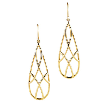 9CT TRELLIS EARRINGS
