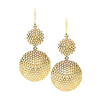 9CT GAUDI DROP EARRINGS