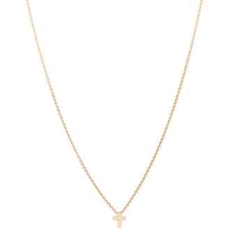 9CT BABY MINI CROSS PENDANT