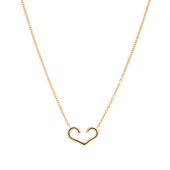 9CT AMOUR OPEN HEART PENDANT