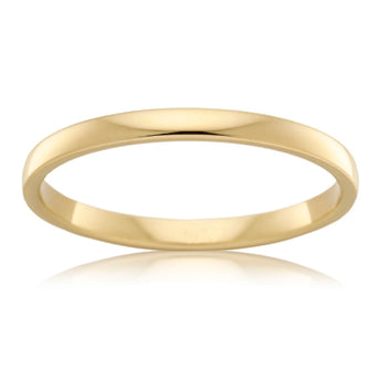 18CT YELLOW GOLD 2.5MM BARREL WEDDER