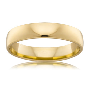 18CT YELLOW GOLD 4MM BARREL WEDDER
