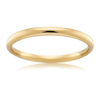 18CT YELLOW GOLD 2.5MM COMFORT WEDDER