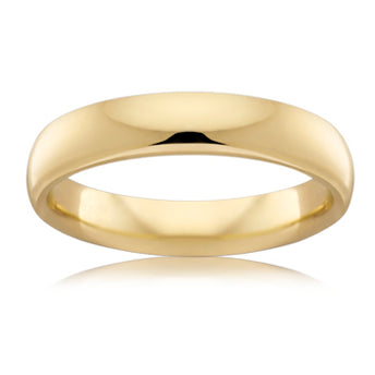 18CT YELLOW GOLD 4MM COMFORT WEDDER